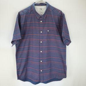 Quiksilver short sleeve button up shirt